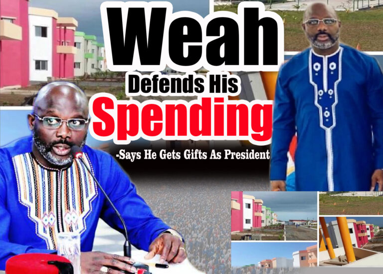 Weah Defends His Spending