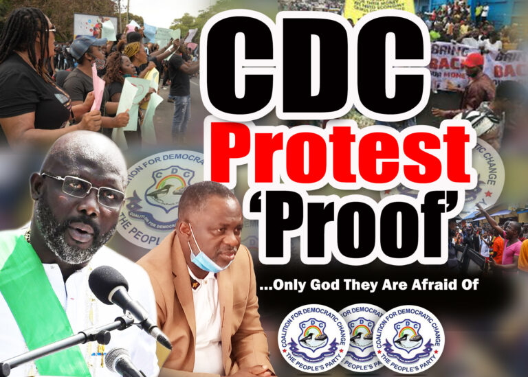 CDC Protest 'Proof'
